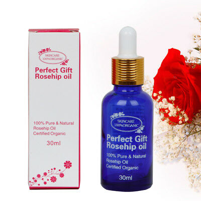 100% Natural Pure Cold Pressed Organic Rosehip Oil Anti-Aging for Face Body 30ml