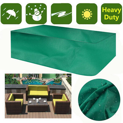 Rectangle Waterproof Chair Cover Outdoor Furniture Protection Patio Garden MX