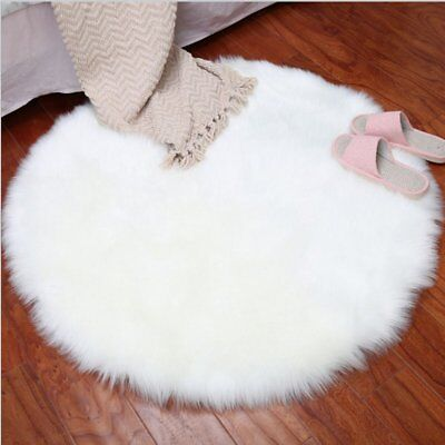 Plush Round Carpet Throw Rug Anti-Skid Shaggy Area Rug Soft Floor Mat Rug KA