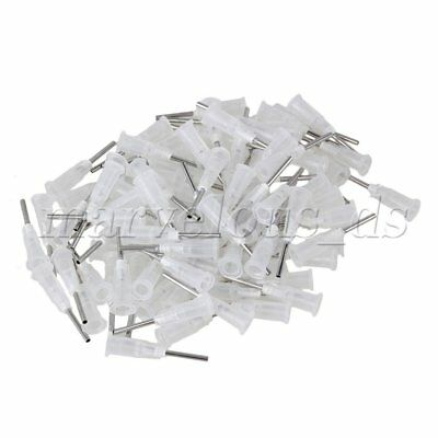 "100xTransparent 1/2"""" 17Ga Dispensing Blunt Needle with Plastic Stuck Connector"