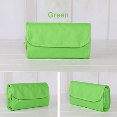 Green Travel Organiser Toiletries Purse Storage Cosmetic Makeup Washable Bag