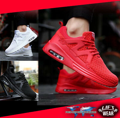 mens gym shoes red running black white fitness training lifting bodybuilding