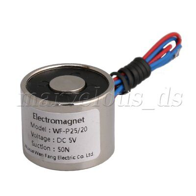 DC 5V 4W 0.8A 50N 5Kg Sucked Electric Lifting Magnet Solenoid Lift Holding