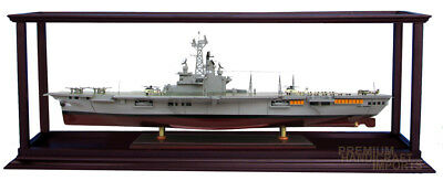 """Ship Display Case for War Ships 35"""" - 37"""" with Acrylic"""