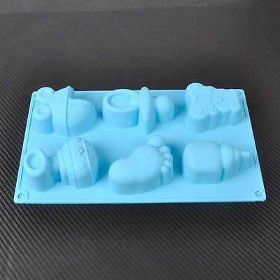 3D Baby Silicone Fondant Cake Decorating Mould Mold Chocolate Baking Mold Tool