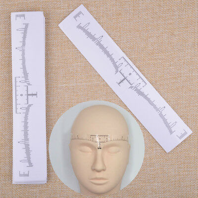 50Pcs Clear Microblading Disposable Eyebrow Ruler Sticker Tattoo Measure Makeup