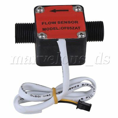 "Plastic G1/2"" High Concentrations Liquid Gear Meter Flowmeter Sensor Red"
