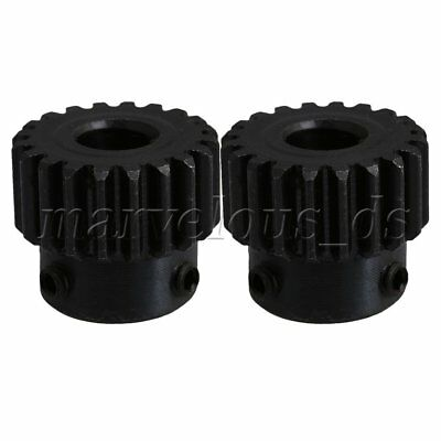 2PCS 8mm Hole 20 Teeth Module 1 Motor 45 Steel Gear Wheel Top Screws