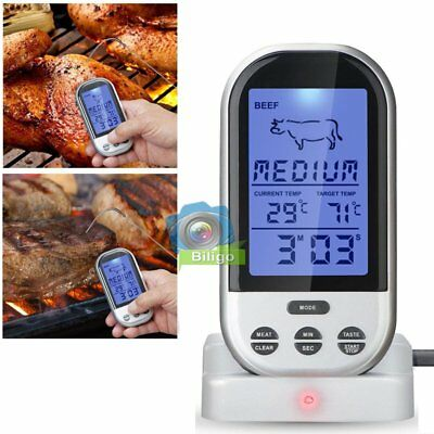 Funk Grillthermometer Display BBQ Bratenthermometer Grill Fleischthermometer DE