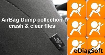 AirBag SRS Dump Collection with Crash & Clear files, Repair Airbag Unit