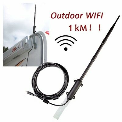 1km Outdoor Wireless USB Adapter 150Mbps High Power WiFi Antenna Signal Receiver