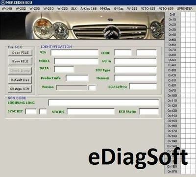 Software Mercedes Benz ECU Editor CLEAR Virginize MB Ecu