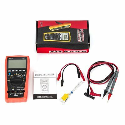 AU VC97 Digital Multimeter LCD Voltmeter Auto Range AC DC Ohm Meter With Battery