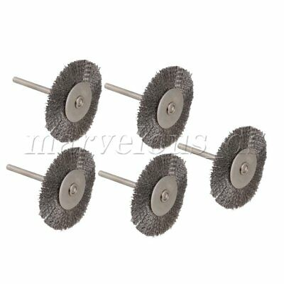 "5pcs 38MM Wheel diameter Stainless Steel Wire Brush Drill End 1/8"" shank"