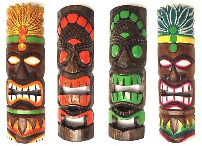 Tiki Maske 30 cm Hawaii Maui Style Bar Party Südsee Wandmaske Wandbrett #