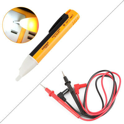Electric Voltage Tester Pen Detector | Multimeter Leads Pair Digital Test Probe