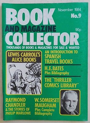 BOOK & MAGAZINE COLLECTOR #9 - 11/1984 - Lewis Carroll, W.Somerset Maugham