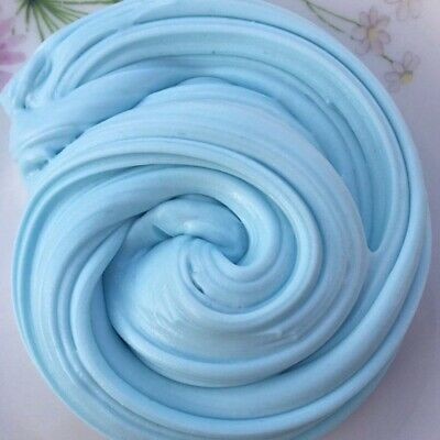 Fluffy Slime Floam Putty Blue Color Plasticine Stress Relief Children Toy Mud