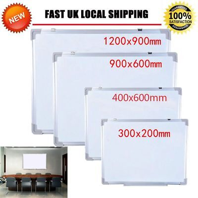 NEW Magnetic Whiteboard Office School Small Medium Large Dry Wipe Drawing Board