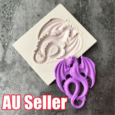3D Dragon Shape Cake Chocolate Decor Baking Mould Biscuit Pastry Silicone Mold B