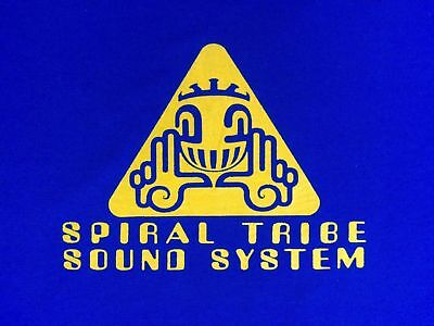 Spiral Tribe Sound System Tshirt Sp Network 23 Crystal Distortion R-Zac Acid