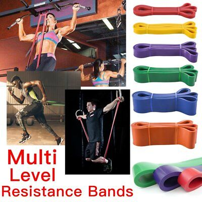 Resistance Bands Home Fitness Exercise Training Latex Set Loop Leg Havy Pull Up
