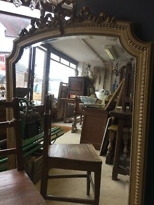 Large Gilt bevelled French Pier Mirror
