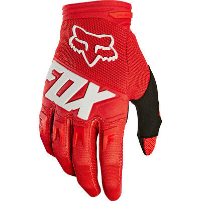 FOX DIRTPAW RACE MX Motocross Cross DH Downhill MTB BMX Handschuhe 2018 red rot