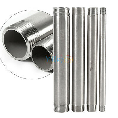 """1/4""""-1"""" 304 Stainless Steel Long Male x Male Threaded Pipe Fittings 200mm BSP rk"""