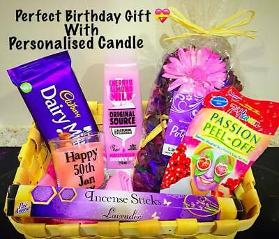 Mothers Day Birthday Gift Hamper For Her Mum Nan Friend Candle Chocolates