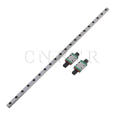 40CM MGN9 Steel Linear Guide Rail Sliding Rails+Block Silver Set