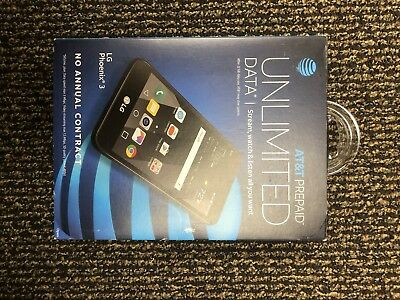 Lot Of 3 New Lg Phoenix 3 AT&T Unlocked 4G LTE GSM Android Smartphones