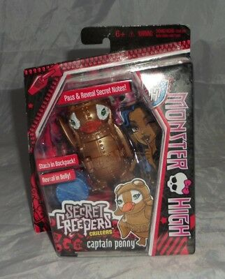 Monster High Secret Creepers Critters Pets Captain Penny Robecca Mattel NEW