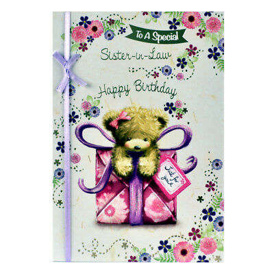 Sister In Law Birthday Card With Insert Enjoy Your Day Happy
