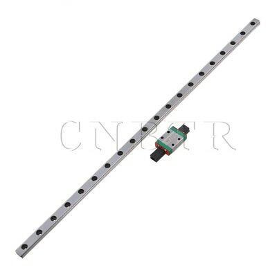 40CM MGN9 Mini Linear Guide Rail Sliding Rails+Block Silver Set
