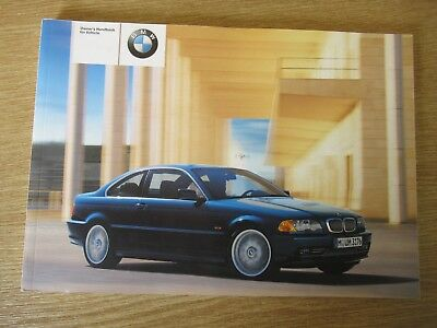 bmw 3 seies e46 coupe handbook owners manual book petrol 10 00 rh picclick co uk bmw 318i owner s manual 1997 bmw 318i owners manual