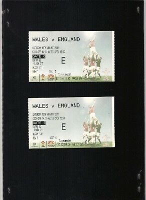 Used match TICKETS for WALES vs ENGLAND RUGBY