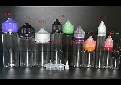10ml 30ml 60ml 100ml 120ml Pen Shaped Double ChildProof PET Long Dropper Bottle