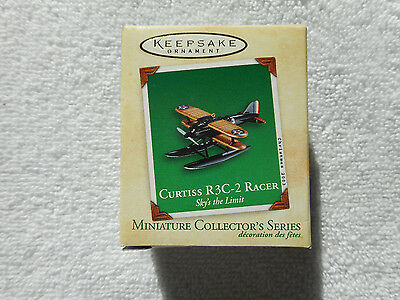 2003 Hallmark Curtiss R3C-2 Racer #3 Miniature Ornament New In Box