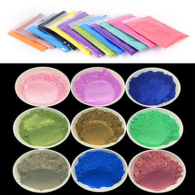 10g DIY Mineral Mica Powder Soap Dye Glittering Soap Colorant Pearl Powder EB