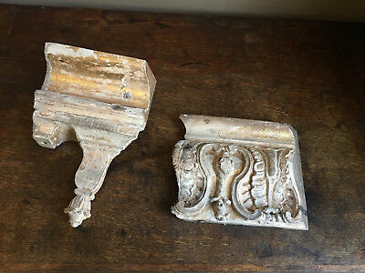 Two 18th century georgian carved giltwood baroque architectural fragments