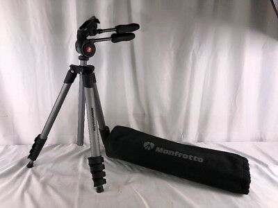 Manfrotto Compact Advanced Tripod - (Black) - MKCOMPACTADV-BK - Used