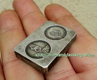 Collectables! China Qing dynasty Handwork Miao silver Pay soldiers silver bar 06