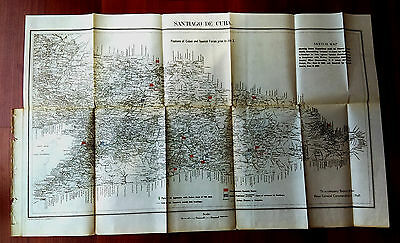 1898 Sketch Map Position Cuban and Spanish Forces on July 3rd Santiago de Cuba