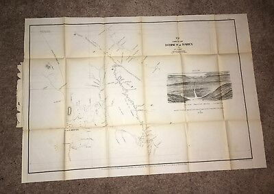 1866 Map of Isthmus of Darien Dr. Cullen River Savana Proposed Canal