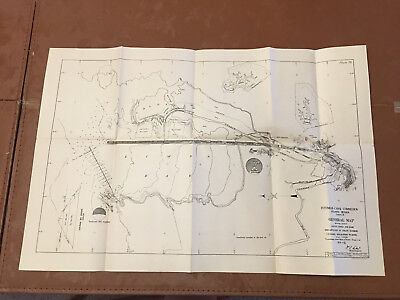 1912 Panama Canal Diagram Location Gatun Locks & Dam Breakwater in Colon Harbor