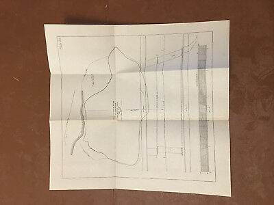 1912 Panama Canal Diagram Showing New Culebra Slide Area 8.6 Acres