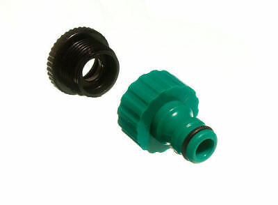 4 Of Quick Fix Snap Fit Garden Tool Tap To Hose Connector With Reducer 19C5