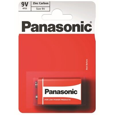 Panasonic 9V Battery Ultra Heavy Duty Carbon Zinc Cell Pp3 Block  9 Volt