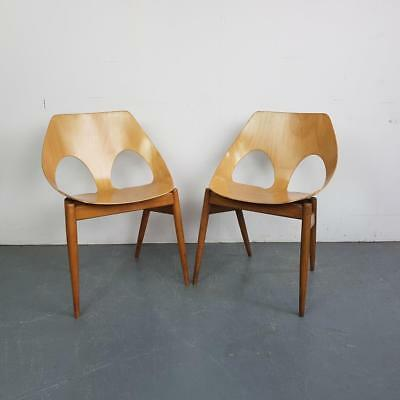 VINTAGE KANDYA CARL JACOBS FRANK GUILLE JASON CHAIRS PAIR 50s MIDCENTURY #2315